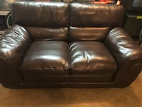 brown leather 2-seat love seat Alexandria, 22315