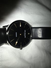 Kenneth Cole Diamond watch with real leather straps King
