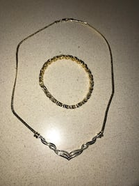 silver-colored chain necklace Frederick, 21703