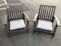 Solid wood pair of outdoor chairs New Smyrna Beach, 32168