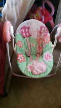 baby's pink and green floral swing chair Lancaster, 17601
