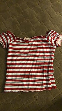 white and red striped crew-neck shirt Anaheim, 92807