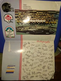 1990 Cfl grey cup poster