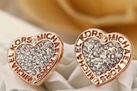 gold diamond encrusted c myo michael kors earrings Rockville, 20850