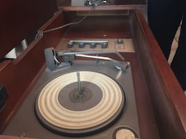 Sears Roebuck Record Player and Table