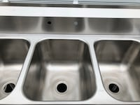 New Stainless Steel 3 compartment commercial sink. Manassas, 20109