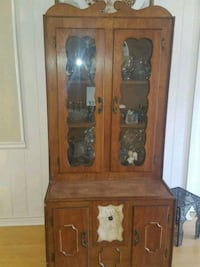 brown wooden cabinet with mirror Hawkins, 75765