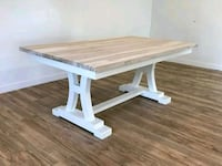 Rustic cherry wood farmhouse table36x60custom made Winchester, 22601