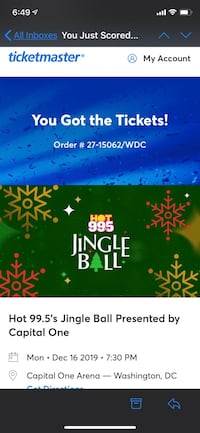 Jingle Ball Tickets Germantown, 20876