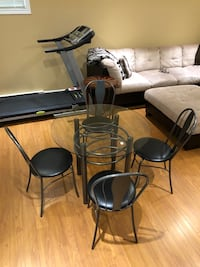 Glass table and 4 chairs Laval, H7E 5P2