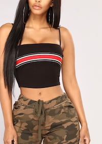 Striped Crop Top  Windsor, N8R 1G9
