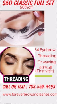 Eyebrow threading/Waxing,Eyelashes Extension,Henna Tattoos/makeup/HairDo/Eyebrow Tint Fairfax