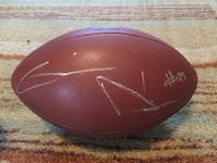 Gaines Adams Signed Football w/ COA