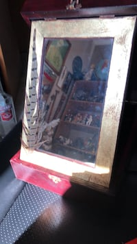 Really cool mirror in a wooden box Calgary, T2Y 2W5