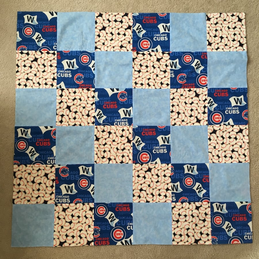 Handmade Chicago Cubs Baby Blanket, New