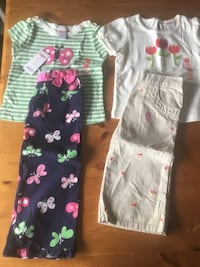 New Gymboree 2T Outfits - tulips and butterflies Littleton, 80127