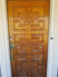 Antique entry door