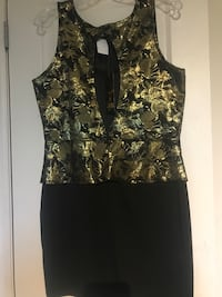 Black and Gold Party Dress Never Worn St Catharines, L2S 4A6