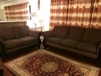 two brown fabric sofa set Vancouver, V5X 4J6
