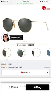 Round metal Ray Ban sunglasses  Montreal