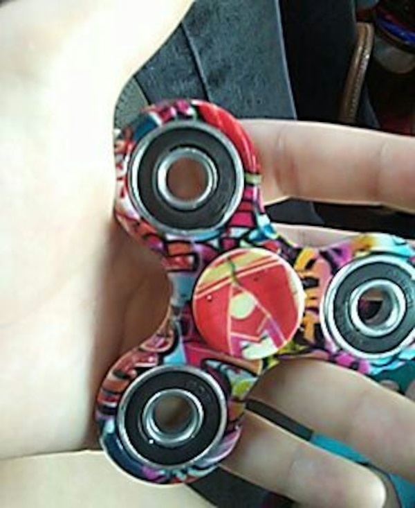Red Black And Green 3 Bladed Fidget Spinner