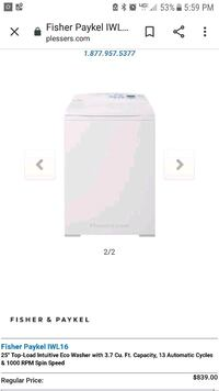 Fisher paykel top loader washer Jackson