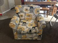 Floral Swivel Accent Chair 1937 mi