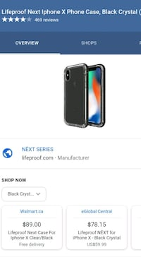 LifeProof NEXT Fitted Hard Shell Case for iPhone X Toronto