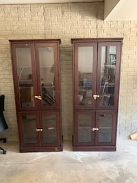 Cabinets with glass doors / solid wood OBO or trade (patio furniture ) Manassas, 20111