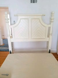 white wooden bed headboard and footboard Long Beach, 11561