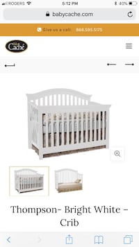 Used baby cache Thompson crib, not assembled in good condition  Halton Hills