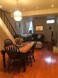 Dining table and chairs. Must pick up. Table is great, chairs are ok