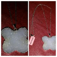 Free Form Butterfly Crystalized Gemstone Necklace Central Point, 97502