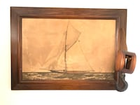 Vintage ShIp Artwork With Nautical Hardware - REDUCED Baltimore, 21205