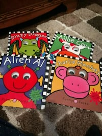 4 large interactive books