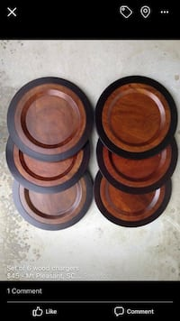 Set of wood plate chargers Mount Pleasant, 29464