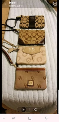 brown monogrammed Coach leather crossbody bag Houston, 77070