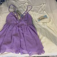 2 Sexy L tops by Cecico NWT purple and off white Ponchatoula, 70454