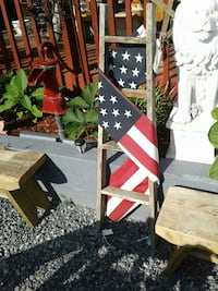 brown wooden ladder with U.S.A. flag Kearneysville, 25430