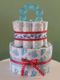 Cars & Planes Baby Diaper Cake