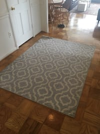 Light blue/gray trellis patterned rug Arlington