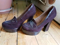 Plateau High Heels 40 Gothic Hippie weinrot Hannover, 30159