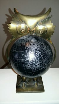 """Owl world map. Globe is 16"""", total height is 10"""""""