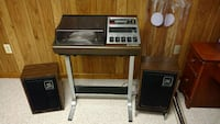 Receiver, 8 track and turntable.  Monrovia, 21770