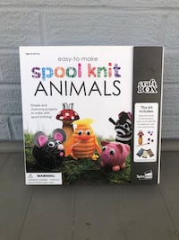 Spool Knit Animals Craft Kit (New) Chevy Chase, 20815