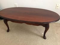 Mahogany Queen Anne Coffee Table Haymarket, 20169