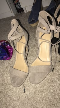gray open-toe heels Charlotte, 28216