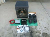 Competition car stereo equipment