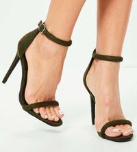 Khaki Rounded Heeled Sandals Vaughan, L6A 0B4