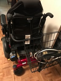Red and black motorized wheelchair Toronto, M1K 4P6